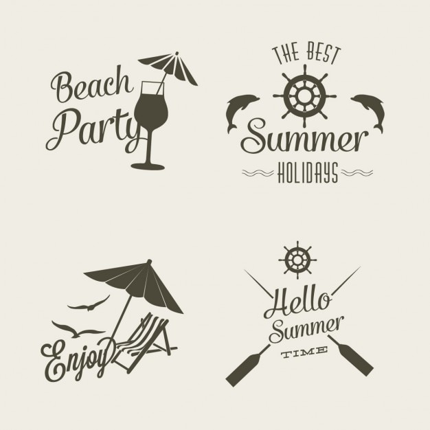 Summer Logo Design Free Vector