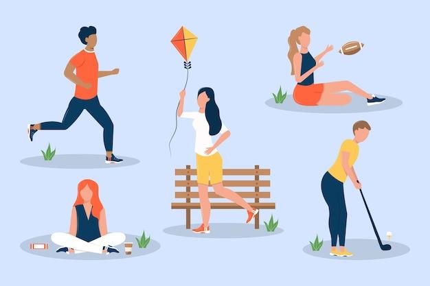 Коллекция летних мероприятий на свежем воздухе Бесплатные векторы