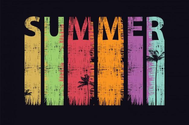 Summer palm trees Premium Vector