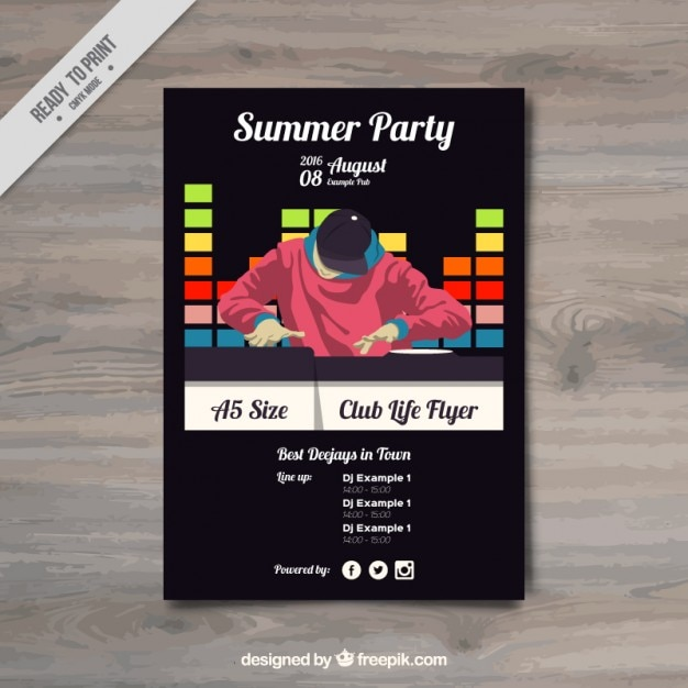 Dj Party Flyer Vectors Photos And Psd Files  Free Download