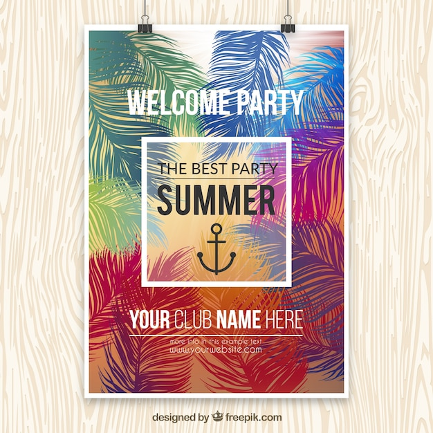 Party Posters Templates | Summer Party Poster Template Vector Free Download