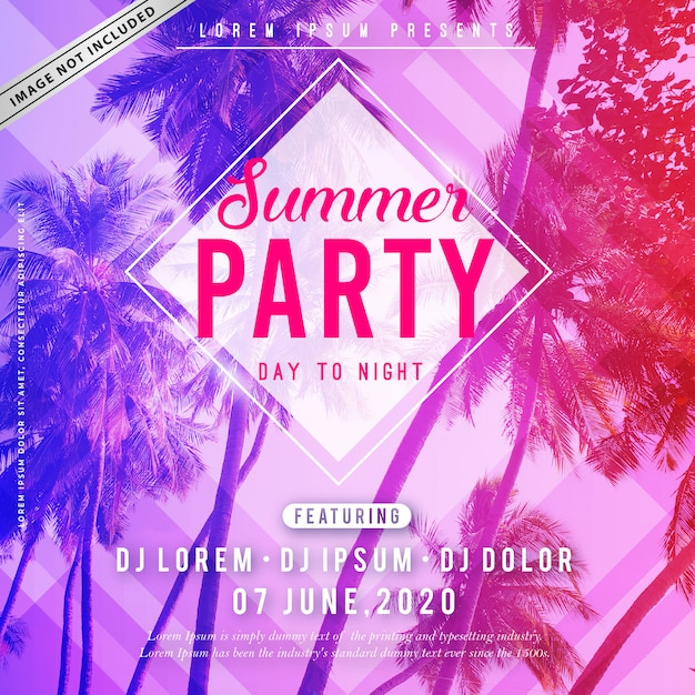 Summer party poster Premium Vector