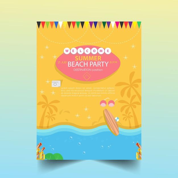 Summer party poster Premium Vector