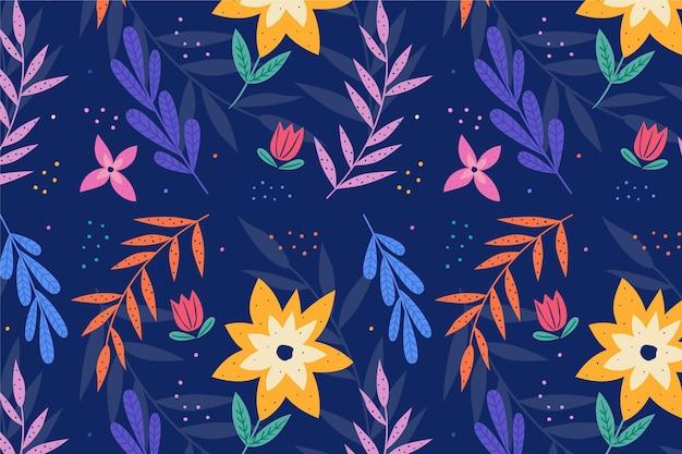 ズームのための夏のパターンの壁紙 無料ベクター