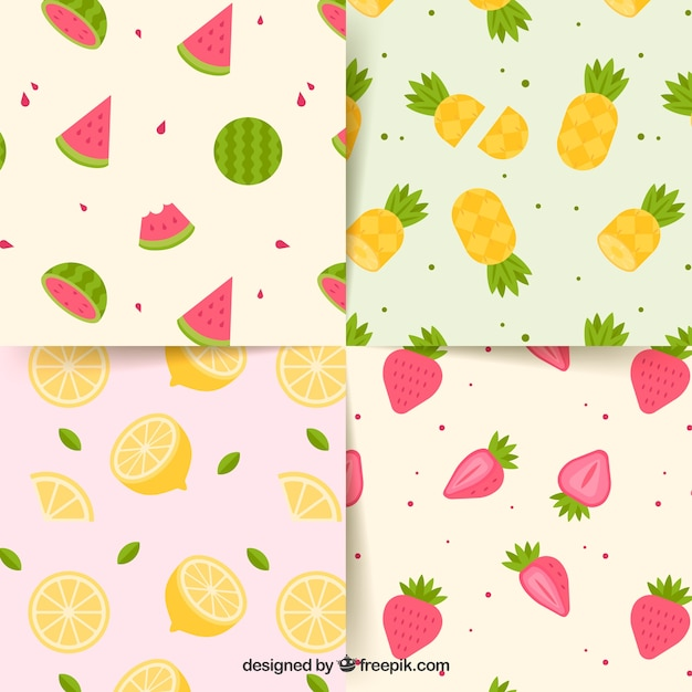 Summer patterns collection Free Vector