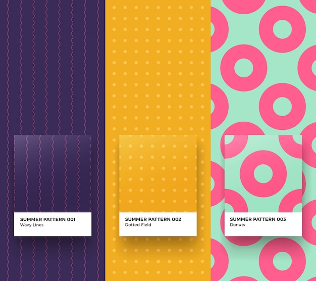Summer patterns Premium Vector