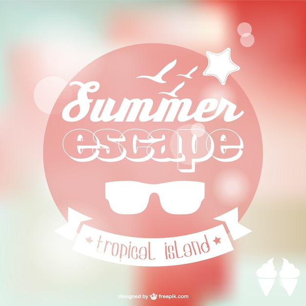 Summer poster background Free Vector