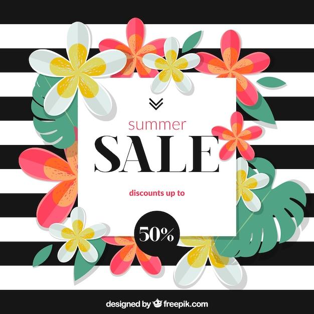 Summer Sale Background Stripes Design Free Vector