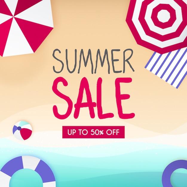 Summer sale background Free Vector