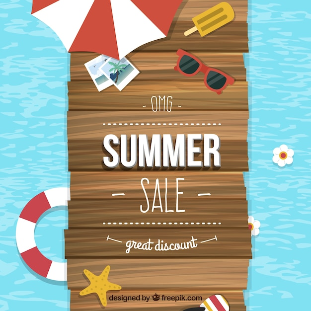 Summer sale background vector free download for Designer wallpaper sale