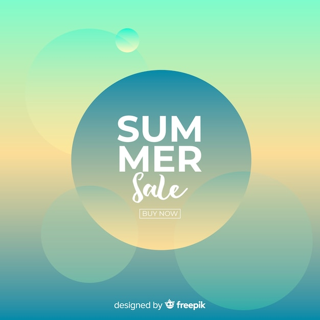 Summer sale background Free Vector