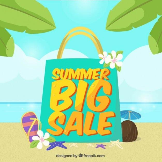 Summer sale bag Vector