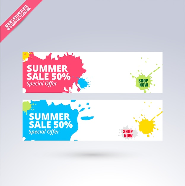 Summer sale banner design Vector | Free Download