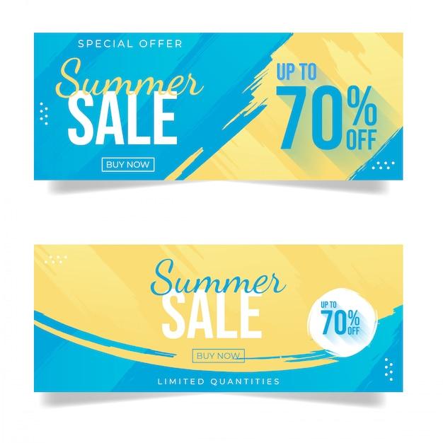Летняя распродажа баннер Premium векторы