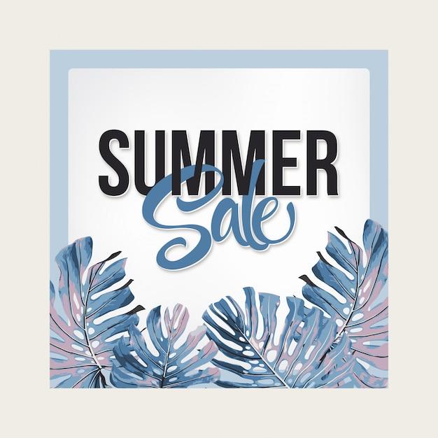 Summer sale banner. Premium Vector