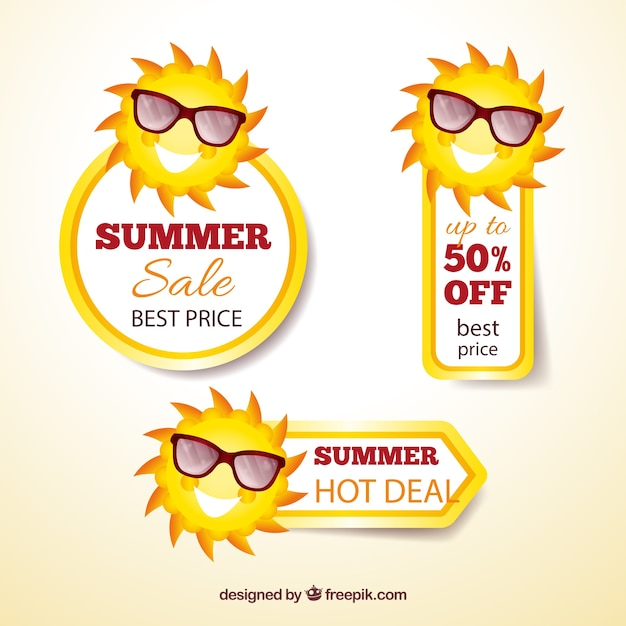 Summer sale banners Vector | Free Download