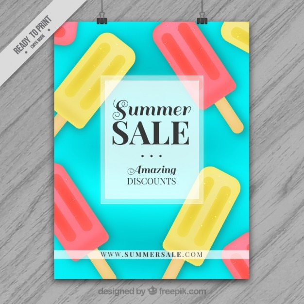 summer sale brochure template vector free download