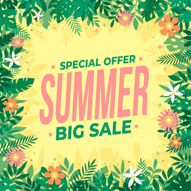 Summer sale concept Free Vector