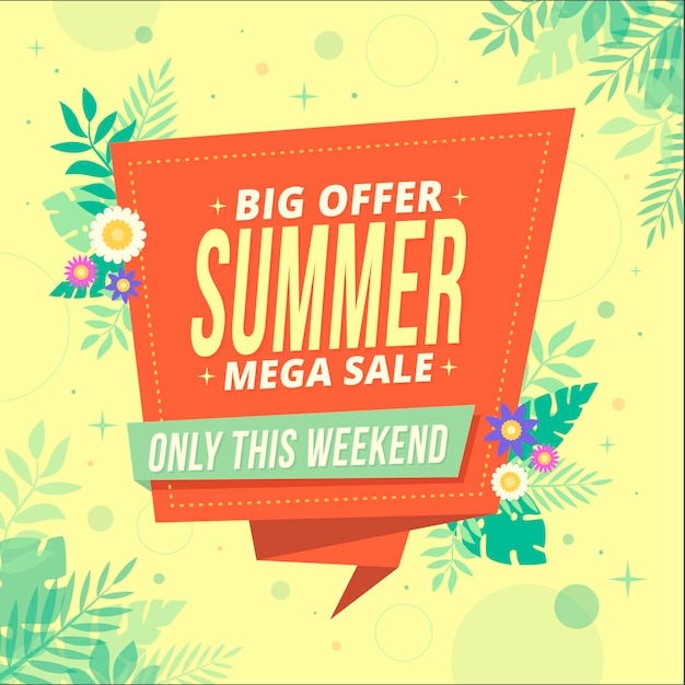 Summer sale design Free Vector