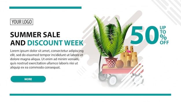 Summer sale and discount week Premium Vector