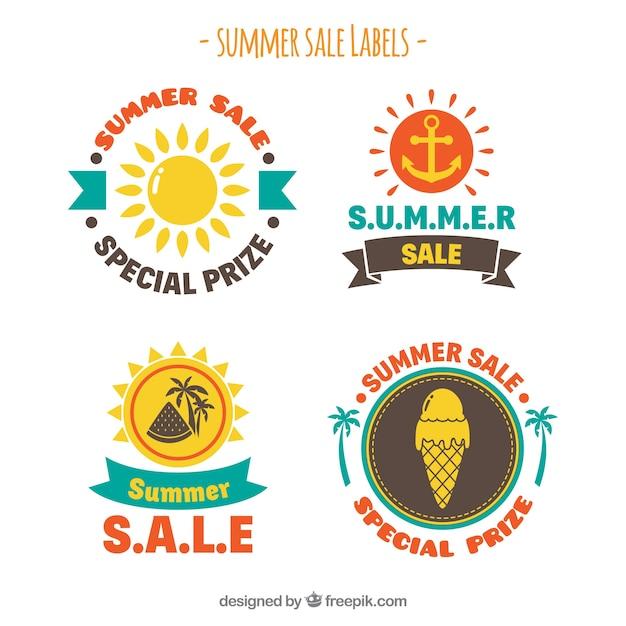 Summer sale label modern design