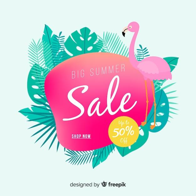 Summer sale liquid banners Free Vector
