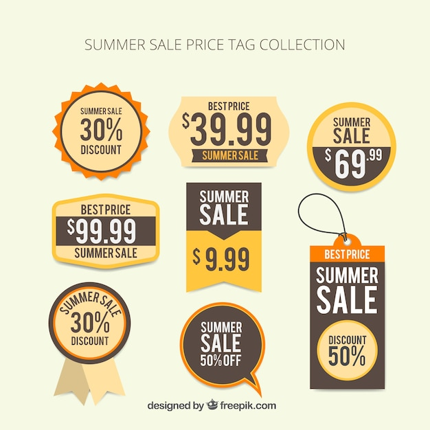 Summer Sale Price Tag Collection Vector Free Download