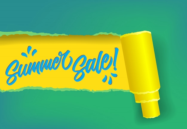 f29c6edf2 Summer sale promotion banner in yellow