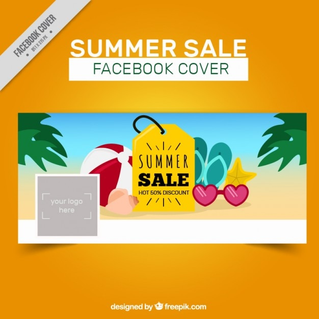 Superb Summer Sale Promotional Cover Free Vector