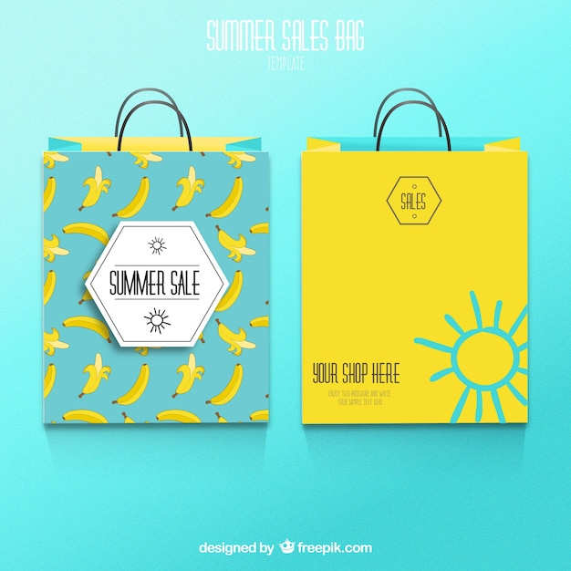 58ee52ba382 Summer sale shopping bags Free Vector