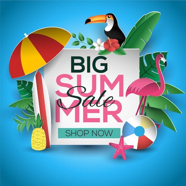 summer sale sign template design vector premium download