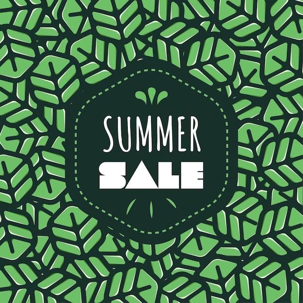 Summer Sale Wallpaper Premium Vector
