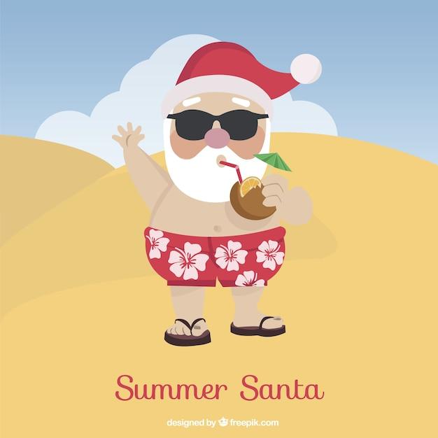 Summer santa Vector | Free Download