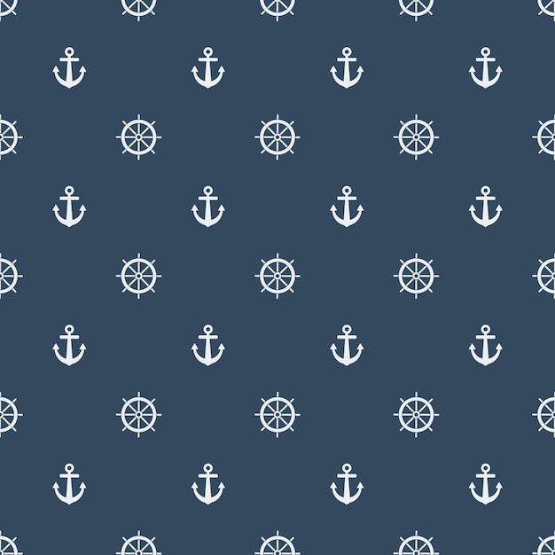 Summer seamless pattern with lifebuoys Premium Vector
