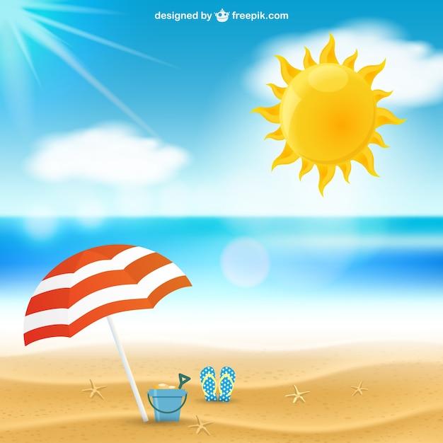 Summer seascape Free Vector