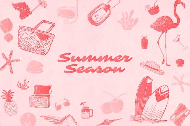 Summer season background Free Vector