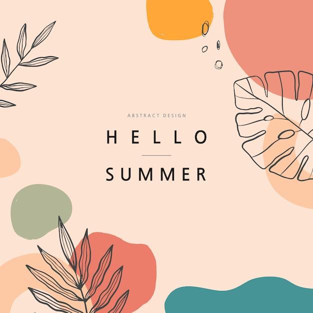Summer shopping event illustration. .tropical Premium Vector