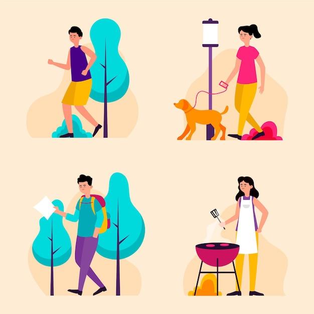 Summer sports illustration concept Premium Vector