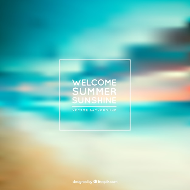 Summer sunshine background Premium Vector