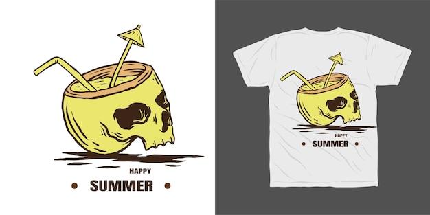Летний дизайн футболки Premium векторы