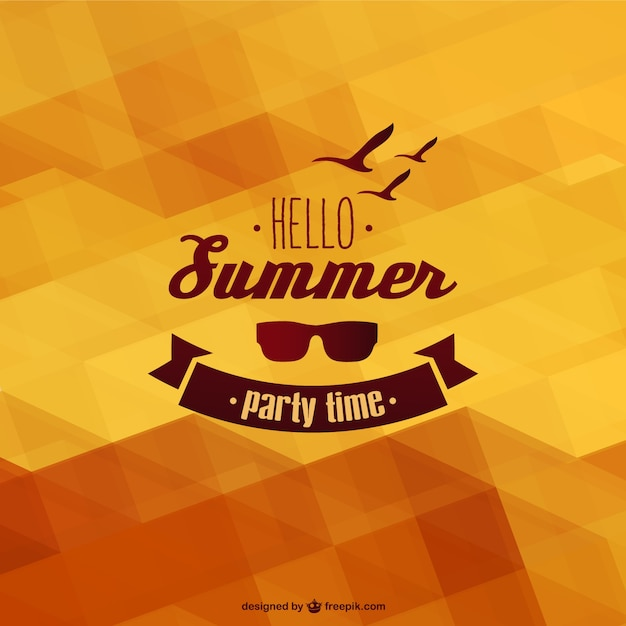 summer template background vector free download