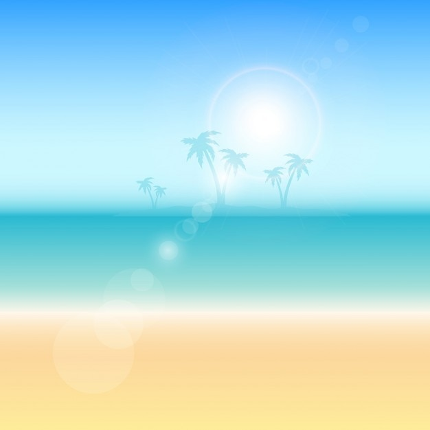 summer themed background with palm trees vector free download