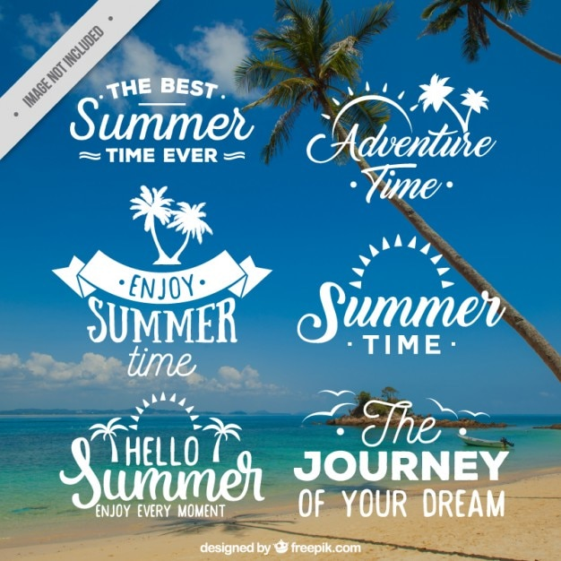 Summer time badge collection | Free Vector