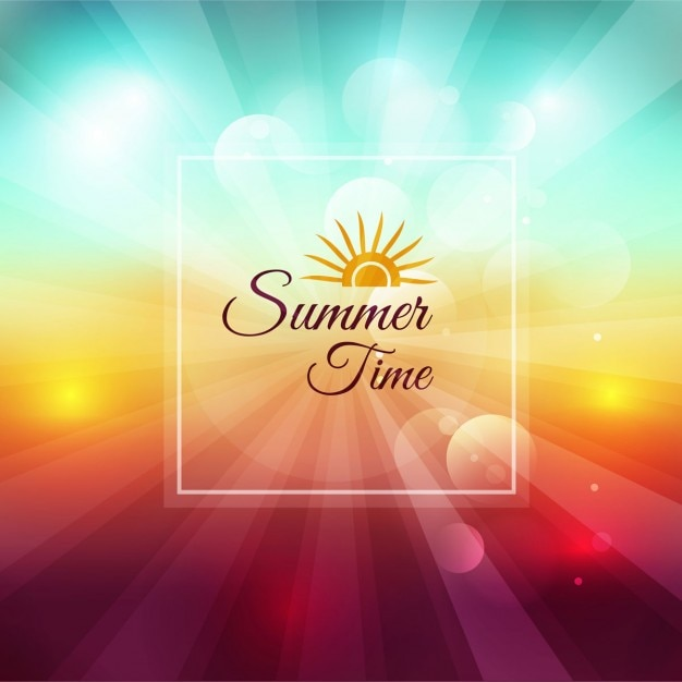 Summer time blurred background | Free Vector