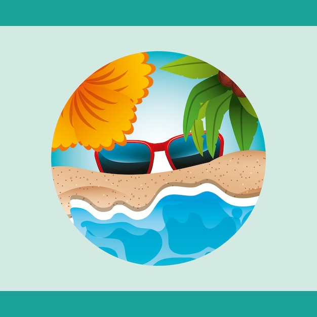 Summer time concept Premium Vector
