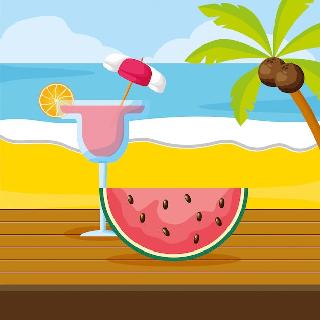 Summer time holiday Premium Vector