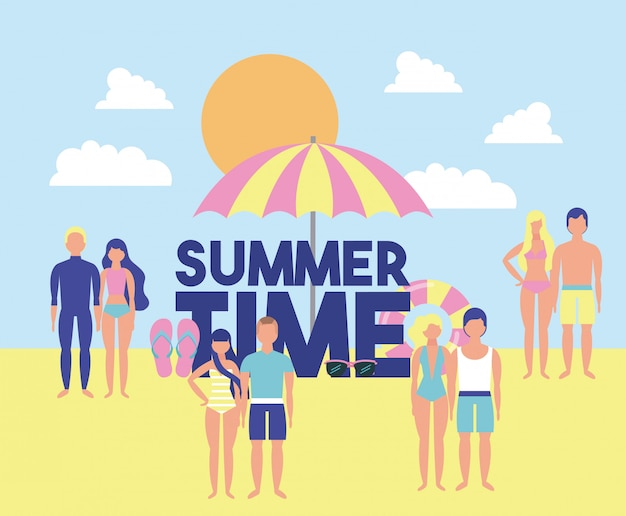 Summer time vacations Premium Vector