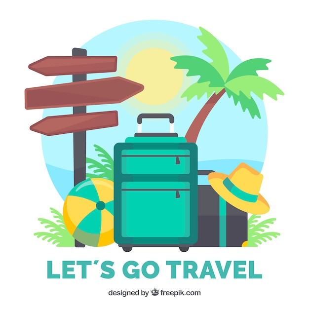 Summer travel background Free Vector