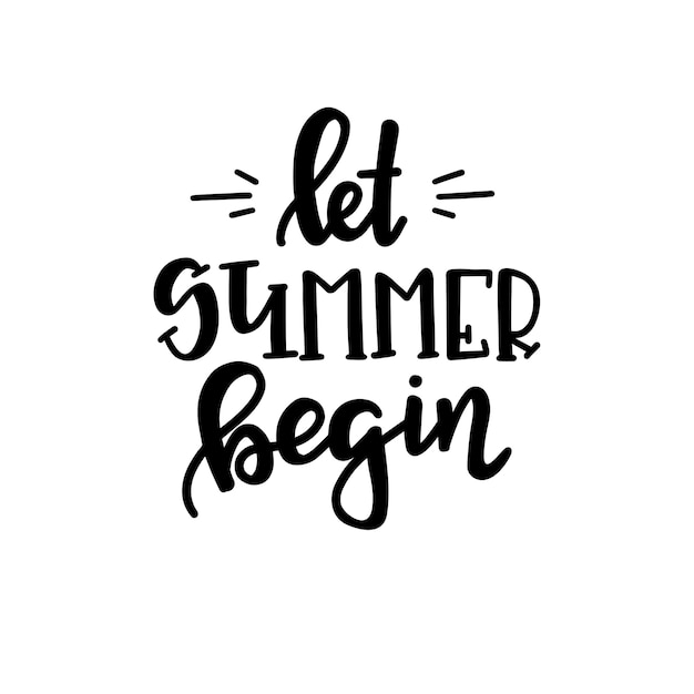 Summer typography poster. conceptual handwritten phrase t shirt hand lettered calligraphic design. inspirational vector Premium Vector