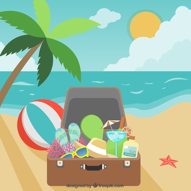 Summer vacation baggage